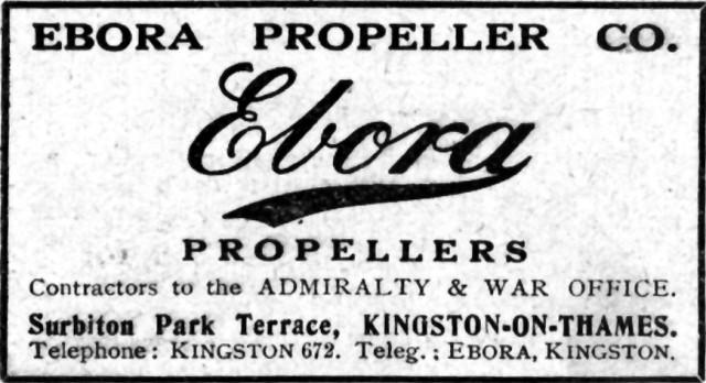 Advertentie Ebora Propellor