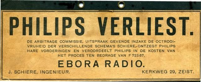Philips versus Ebora radio