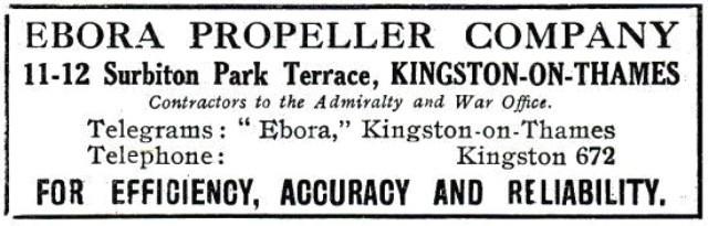 Advertentie Ebora Propellor 1917
