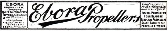 Advertentie Ebora Propellor 1918