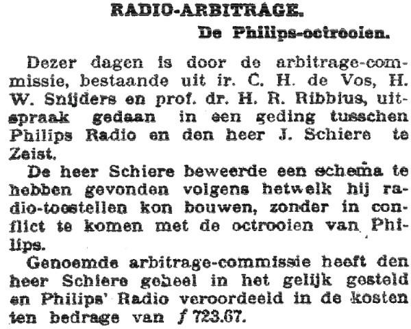 Ebora Philips radio arbitrage