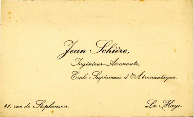 Visitekaartje Jan Schiere