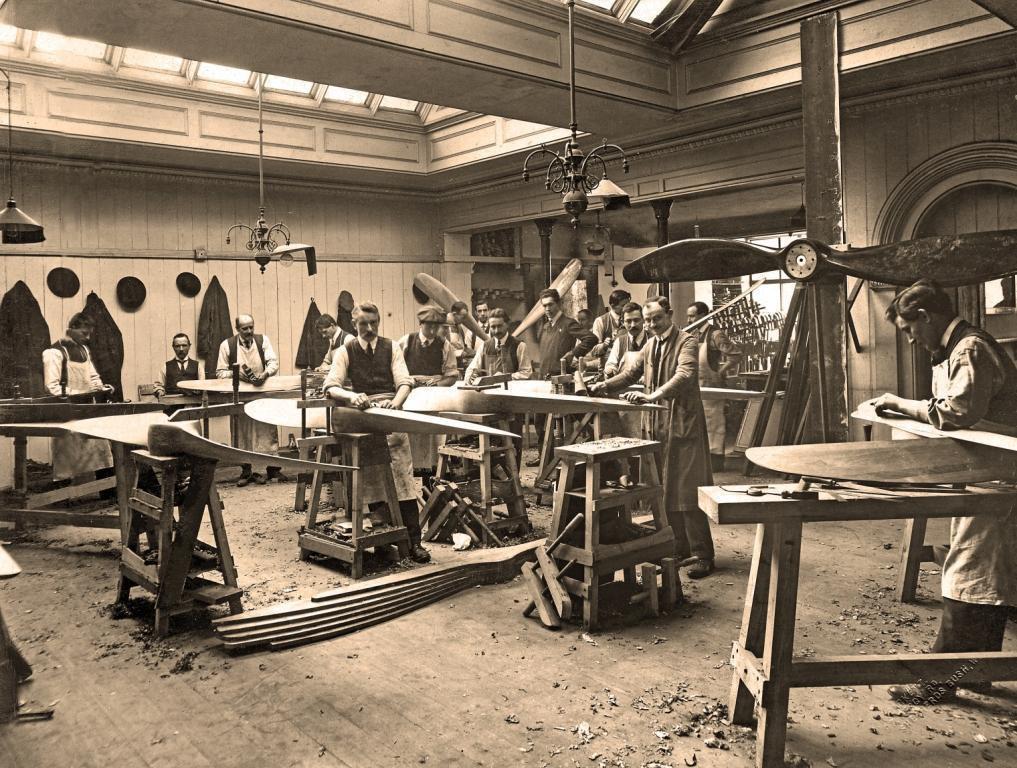 De oude werkplaats van Ebora Propellor Company