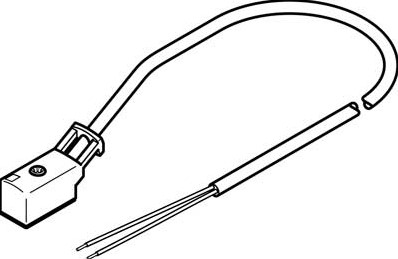 193695, KMYZ-3-24-5-LED-PUR-B Connector+Kabel