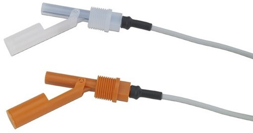 GF 2282 Guided Float Switch, reedcontact, kabel, PP/PVDF
