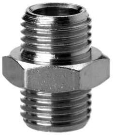 2501 1/8 Borstnippel Cilindrisch