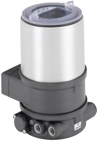 Burkert Digitale elektropneumatische klepstandsteller voor geïntegreerde montage op procesregelventielen - Type 8692