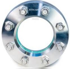 11-320-200-8-ACRYL-1 Rund Behälterschauglas nach DIN 28 120 Grund: 1.4539 Deck:1.4541