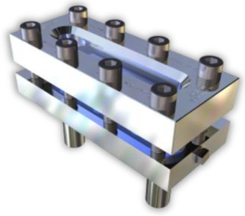 333 Rectangular Sight Glass With welding ends on the back