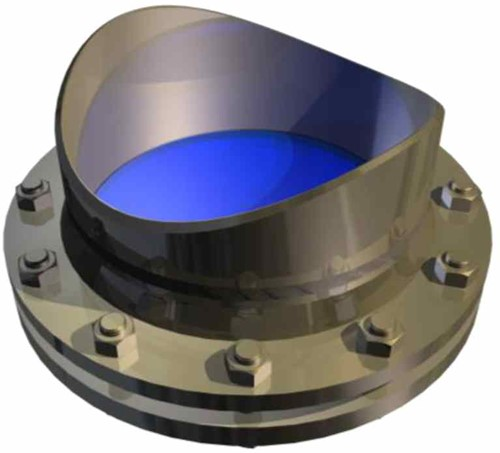 391 Sight Glass Flange With Pipe Adapter For welding on existing pipes PN16, PN40