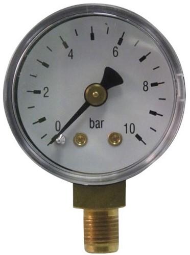 6001 Manometer met onderaansluiting staal - messing