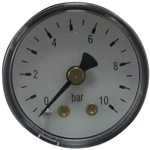 6004 Manometer met achteraansluiting staal - messing