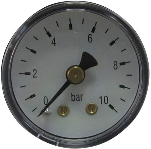 7014 RVS manometer met achteraansluiting