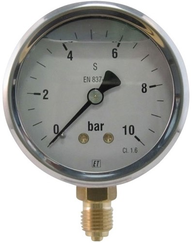EB252950 MANOMETER 7211 63MM 0-100 B/P
