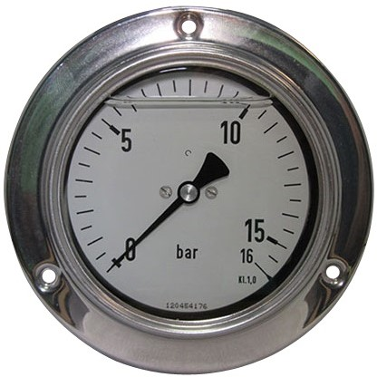7726 Manometer RVS Paneel- en wandmontageachteraansluiting