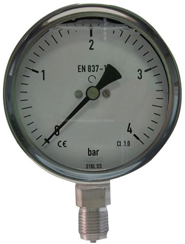 EB274060 MANOMETER 7221 100MM  0-60