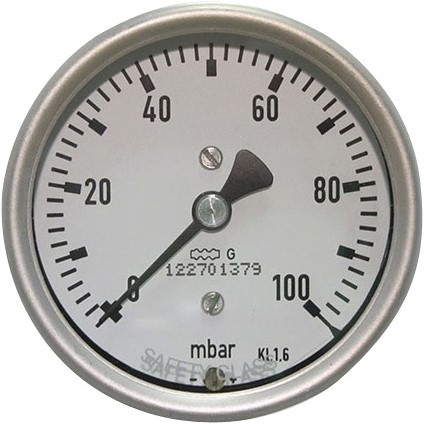 EB284100 MANOM. 7814 100MM  0-100 mB