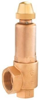 851-sGK-25-NPT-m/f-2540-FKM-5bar-Ebora Bronzen veiligheidsventiel