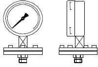 """PMX100LA-02 Manometer 100mm, -1..1,5 bar met RVS scheidingsmembraan 1/2"""""""" Glycerine"""