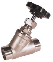 EBAE311064/L Schuine zitting afsluiter DN25, PN16, Laseinden ISO4200