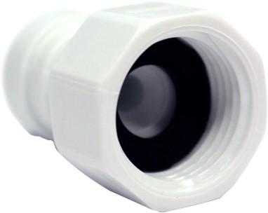 "CI450814FW Flat Seal Female Adaptor Bsp Thread 1/2"""", tube od 1/4"""""