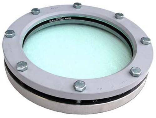 11-318-200-1-1-6-000 Rond inlas/oplas RVS kijkglas