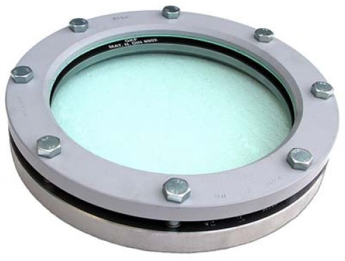 318-14571/14541-PTFE-BORODN80 Rond inlas/oplas RVS kijkglas