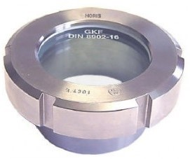 11-327-40-1-1-3-000 Melkkoppeling kijkglas, oplas 327-DN 40 1.4404 NBR