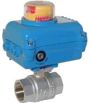 EBKA1100xx-NE05x100 Messing kogelafsluiter-KA, met elektrische aandrijving-NE05 50Nm