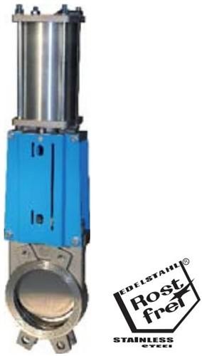 EBWGE-GG-MET-300/PD Plaatafsluiter, GG25/metaal- dichtend Rvs schuif DN300, PN6