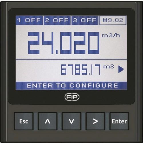 M9.20.P1 Flow monitor op batterijen Incl. paneelinbouwset