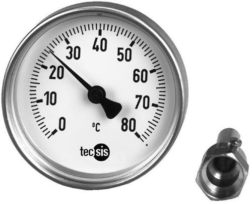 TM187C406001 Bimetaal thermometer 80 mm