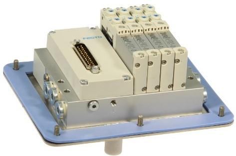 573606, MSDR-B1T-25V20-G18B-DTB-M7SU-4VK+M1TTSC ventieleiland VTUG-10 met Pneumapole-L MSDR-B1T-25V20-G18B-DTB-M7SU-4VK+M1TTSC