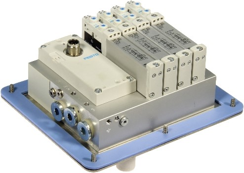 573606, VRPT-B1T-G14B-DTB-G18SU-4VK+TTSC Ventieleiland VTUG-14 met Pneumapole-L VRPT-B1T-G14B-DTB-G18SU-4VK+TTSC