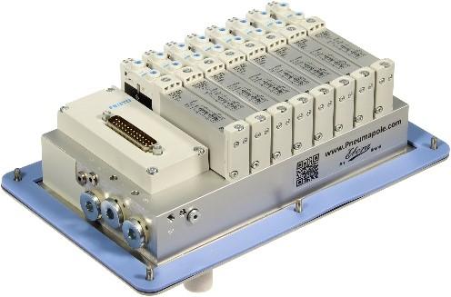 573606, MSDR-B1T-25V20-G14B-DTB-G18SU-8VK+M1TTSC Ventieleiland VTUG-14 met Pneumapole-L MSDR-B1T-25V20-G14B-DTB-G18SU-8VK+M1TTSC