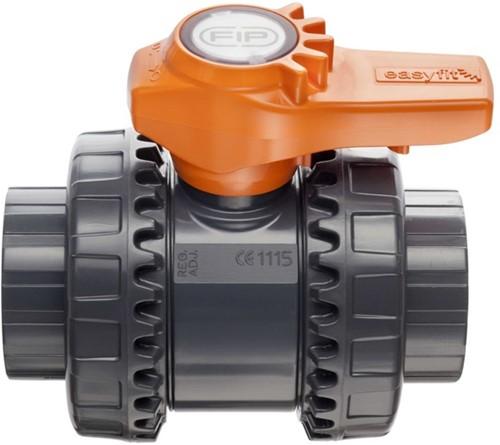 VXEIV050E PVC kogelkraan VXEIV EPDM lijmmof d50