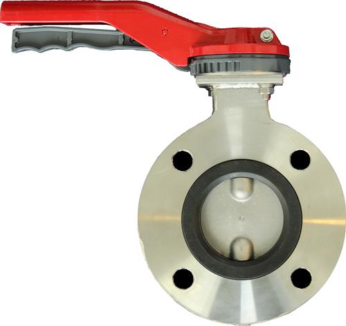 EBBKMF-80-01-0507-0921-10R Vlinderklep Type BKMF - DN80 Uitvoering naar ASME 150 lb