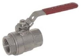 "EBZL311053 RVS kogelafsluiter handbed. 2-delig 1/2""""NPT,PN63 1.4408"