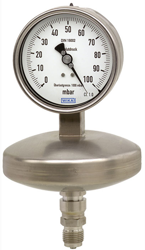 Absolute pressure gauge, stainless steel High overload safety