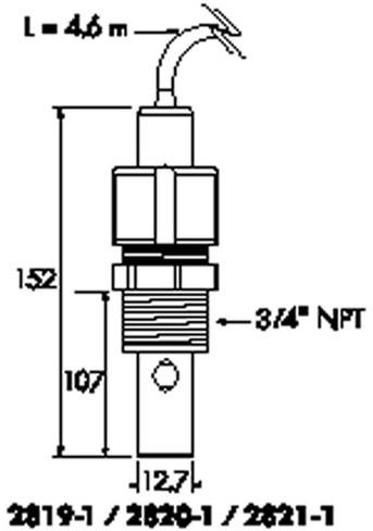 198844000 type2820geleidbaarheid/weerstandelektrode