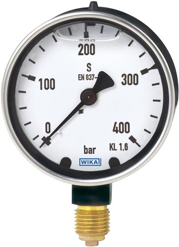 Wika Bourdon tube pressure gauge, copper alloy Heavy-duty version