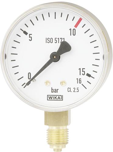 Bourdon pressure gauge, copper alloy model 111.11