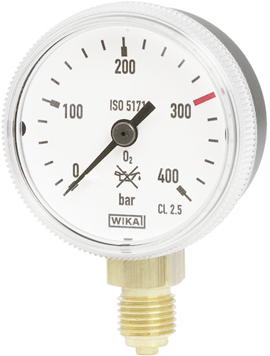 Bourdon tube pressure gauge, copper alloy, Model 111.31