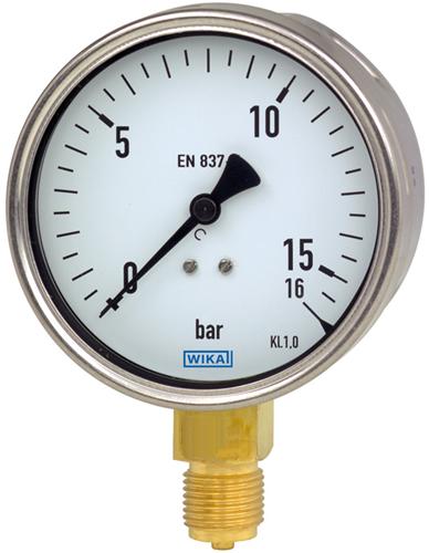 Bourdon tube pressure gauge, copper alloy, Model 212.20