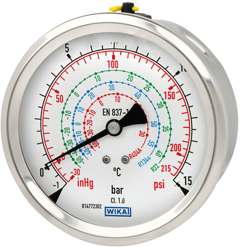 Bourdon buis manometer, koperlegering of RVS Model 112.28 en 132.28