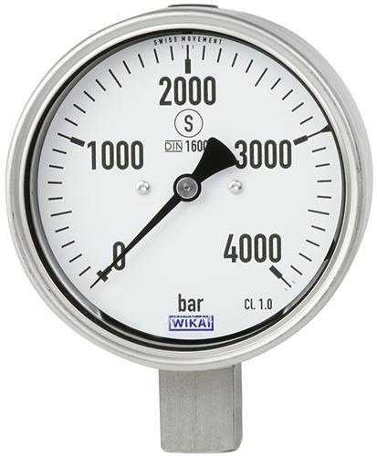 Wika Bourdon tube pressure gauge, stainless steel, Model PG23HP-P