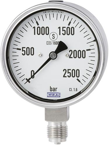 Wika Bourdon buis manometer, RVS Model PG23HP-S
