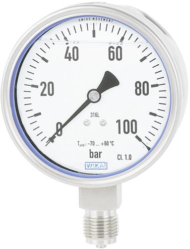 Bourdon buis manometer, RVS  Model PG23LT