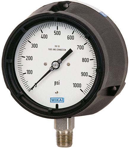 Bourdon tube pressure gauge, stainless steel, Models 232.34
