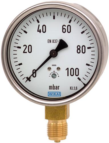 Capsule pressure gauge, copper alloy, Model 612.20